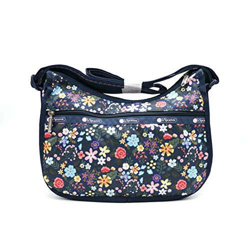 LeSportsac KR Exclusive Classic Hobo Handbag in Floret Navy