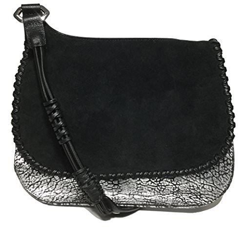 orYANY Woman's Leather/Suede Cross Body, Black/Silver