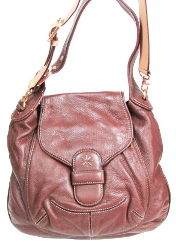 Isaac Mizrahi Pebble Leath Rounded Hobo Bag.
