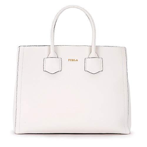 Furla Women's Furla Alba M White Leather Shoulder Bag White