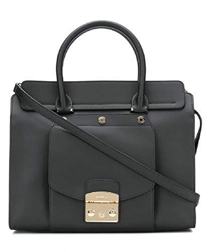 Furla Women's Metropolis Magia Black Leather Large Handbag
