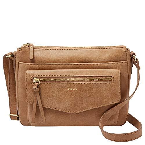 Relic by Fossil Women's Allie Crossbody Handbag Purse, Color: Camel