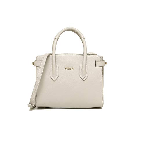 Furla Pin Ladies Mini White Perla Leather Tote 978747