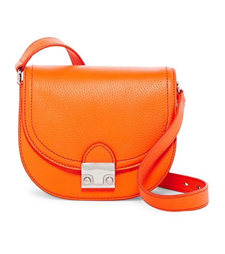 Loeffler Randall Nappa Leather Saddle Handbag in Tangerine