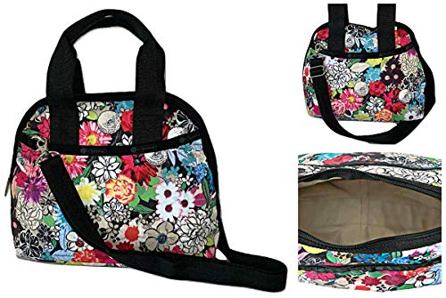 LeSportsac Sunlight Floral Amelia Convertible Crossbody & Top Handle Tote Handbag, Style 3354/Color E141