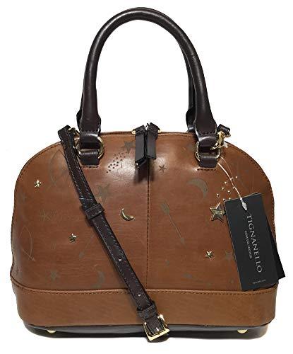 Tignanello Vintage Leather Andromeda Mini Dome Crossbody, Etched Rust
