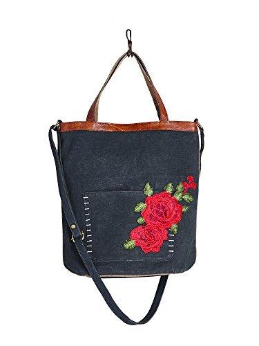 Mona B Rosette Tote Handbag