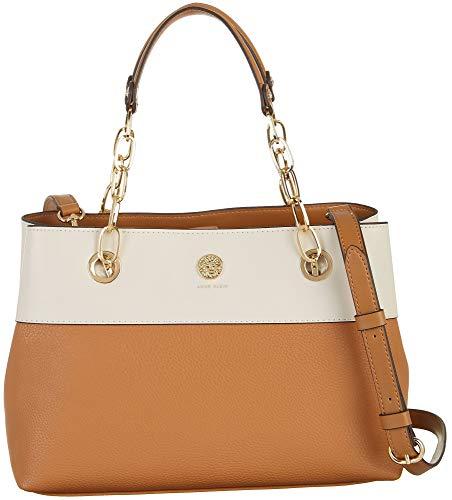 Anne Klein Status Link Satchel Handbag One Size Brown
