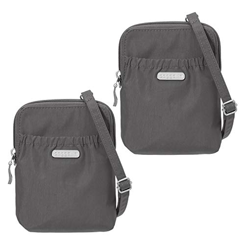 Baggallini Bryant Pouch (Charcoal, Pack of 2)