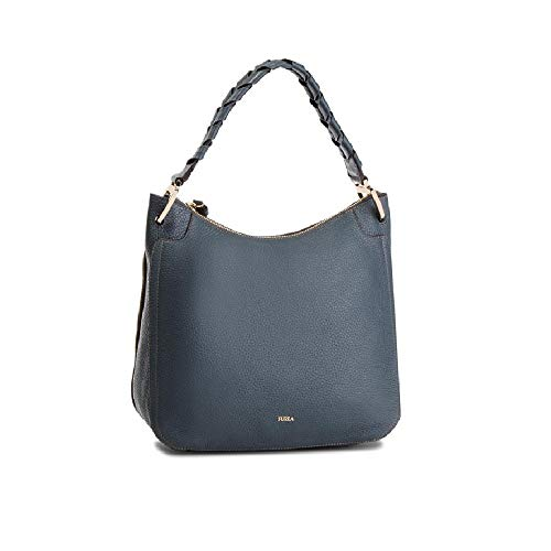 Furla Rialto Ladies Medium Gray Ardesia Leather Hobo Bag 977650