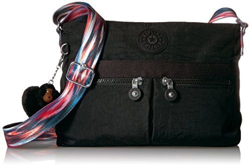 Kipling Women's Angie Solid Convertible Crossbody Bag, black