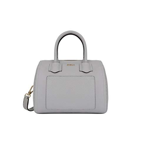 Furla Alba Ladies Small Gray Onice Leather Satchel 984383