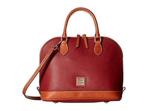 Dooney & Bourke Pebble Grain Zip Zip Satchel,Wine