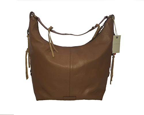 Lucky Brand Jill Hobo Handbag Purse Umber Pebbled Leather Purse Bag