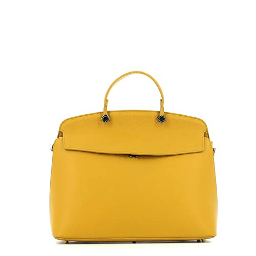 Furla My Piper Ladies Medium Yellow Ginestra Leather Shoulder Bag 977735