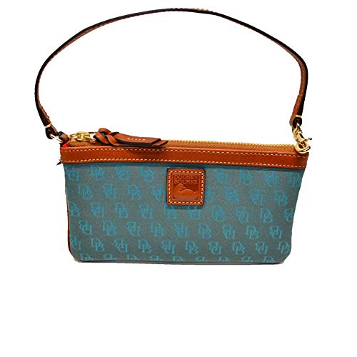 Dooney and Bourke Lg Slim Wristlet Clutch Turquoise