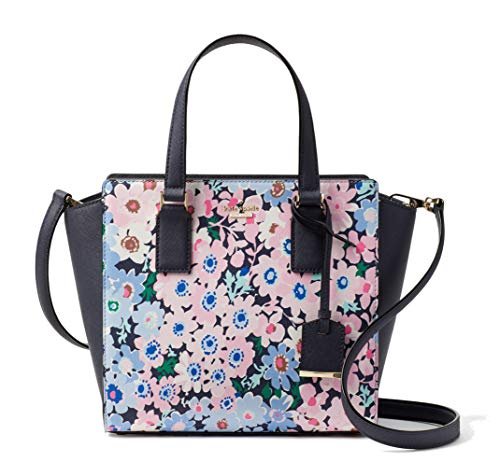 Kate Spade New York Cameron Street Daisy Garden Small Hayden Leather Satchel Bag, Navy Pink Multi