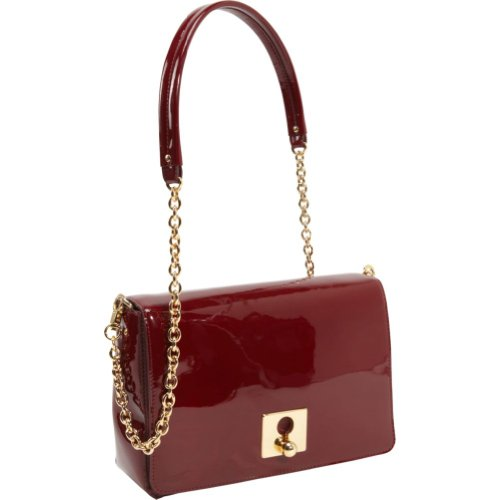 Orla Kiely Glossy Claret Patent Robin Bag