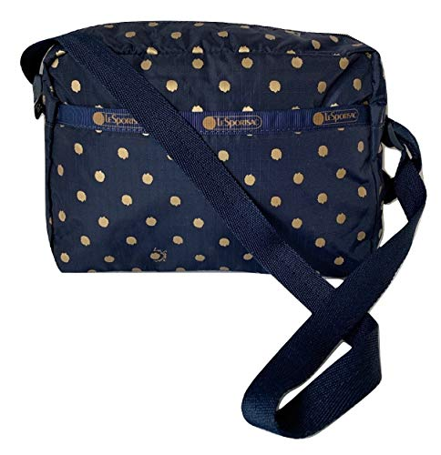 LeSportsac Speckle Dot Daniella Crossbody Handbag, Style 2434/Color D954 (Metallic Iridescent Gold Speckles)