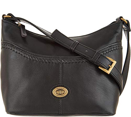 Tignanello Crosby Vintage Leather Convertible Cross Body, Black
