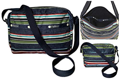 LeSportsac Indigo Stripe Daniella Crossbody Handbag, Style 2434/Color E124