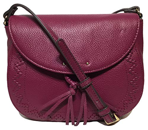 Tignanello Lillie Saddle Cross Body W/RFID Protection, Garnet