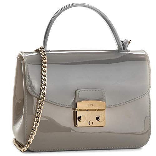 Furla Candy Meringa Mini Ladies Gray Onice PVC Crossbody Bag 978620