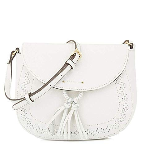 Tignanello Lillie Saddle Cross Body W/RFID Protection, Bright White