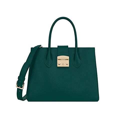 Furla Metropolis Ladies Medium Green Cipresso Leather Tote 978105