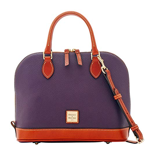 Dooney & Bourke Pebble Grain Zip Zip Satchel, Plum Wine
