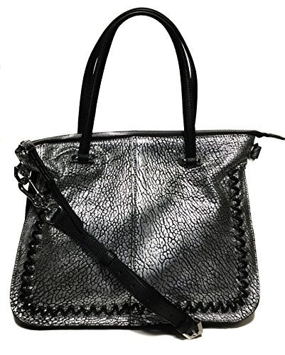 orYANY Woman's Leather/Suede Satchel, Silver