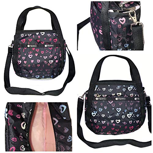 LeSportsac Heart Beat Small Jenni Convertible Crossbody & Top Handle Tote Handbag, Style 8056/Color D995