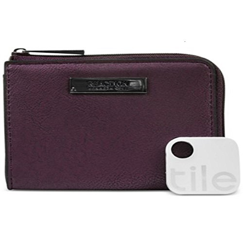 Kenneth Cole Reaction Techni Cole Top Zip Coin Purse w/Tracker – Burgundy