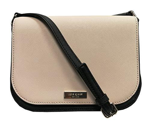 Kate Spade New York Large Carsen Laurel Way Leather Crossbody Bag Softpor/Black