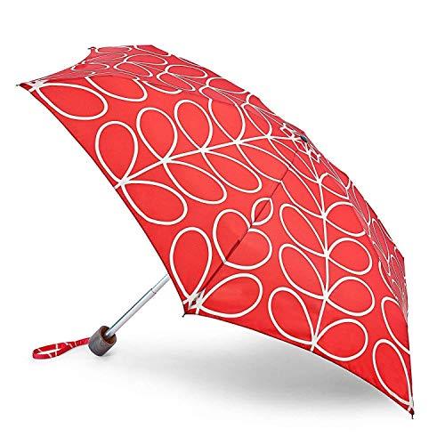 Orla Kiely by Fulton Tiny 2 Umbrella – Large Red Linear Leaf