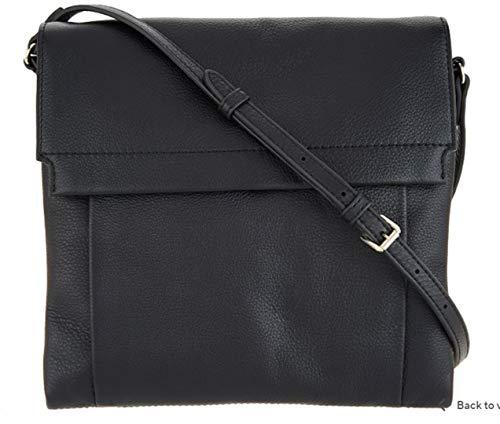 Vince Camuto Min Black Leather Large Crossbody Handbag