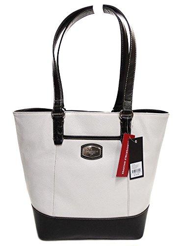 Tignanello Artisan Revival Conv. Shopper White/Black T61515A