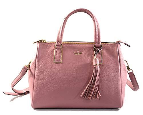 Kate Spade Naomi Satchel Women's Medium Leather Convertible Crossbody Bag Purse Handbag, Dusty Peony