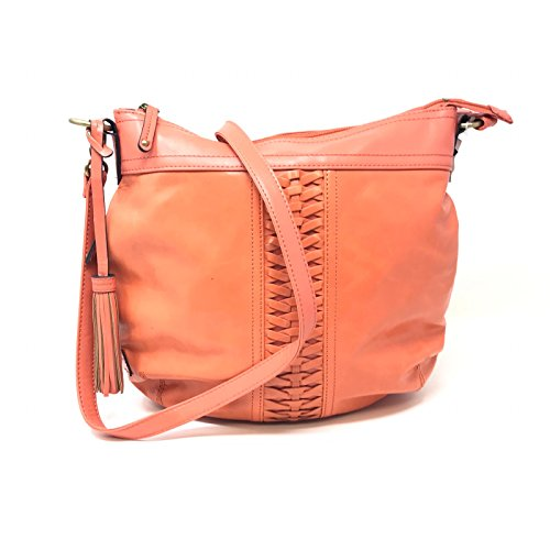 Tignanello A266995 Essex Street Convertible Crossbody Coral Hobo Bag