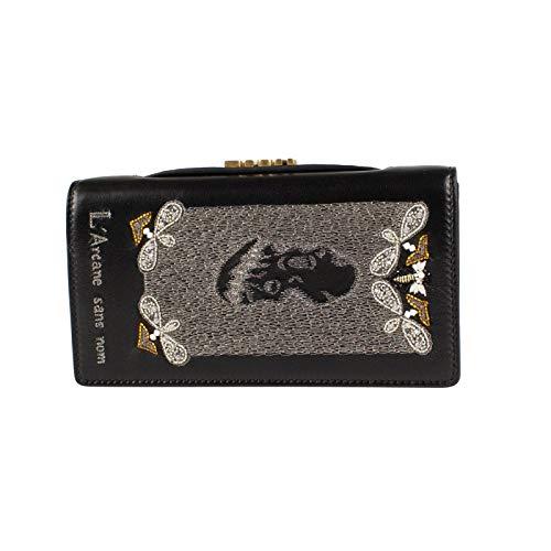 Chrisitan Dior Women'S Christian Dior 'Dior Death' Leather Embroide Beaded Clutch Bag Black