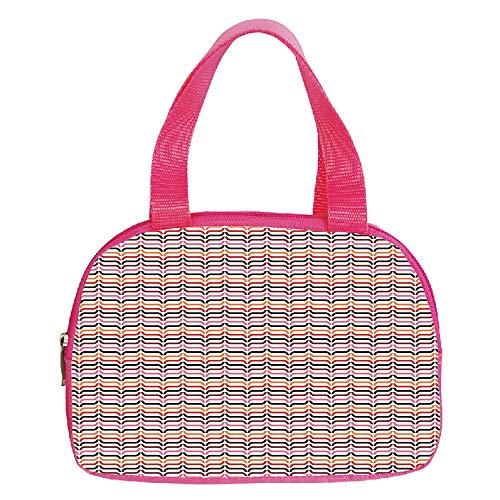 iPrint Vogue Small Handbag Pink,Farmhouse Decor,Heart Shape Rain Droplets on Crystal Clear Window Glass Pure Love Valentines,Blue,for Girls,Diversified Design.6.3″x9.4″x1.6″