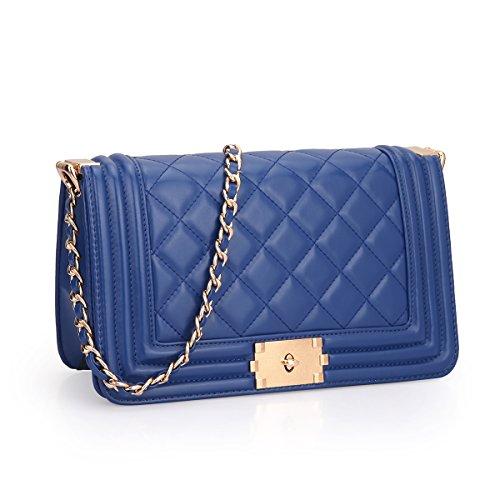 MyLux® Connection Fashion Women Clutch Handbag Purse (2457bl)