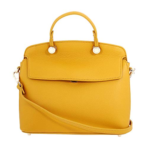 Furla My Piper Ladies Small Yellow Ginestra Leather Shoulder Bag 977727