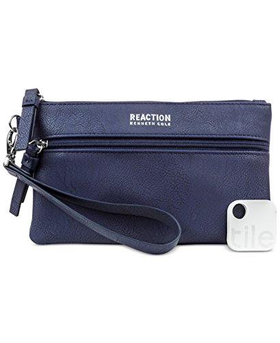 Kenneth Cole Reaction Forget Me Not Tech Wristlet Marina Blue with Bluetooth Tracker
