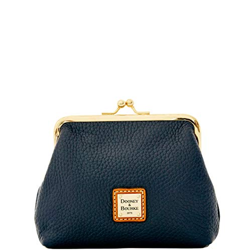 Dooney & Bourke Framed Pebble Leather Kisslock clutch Midnight Blue