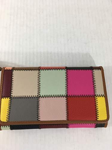 KOOBA Multi Color Patch Flap Wristlet Wallet
