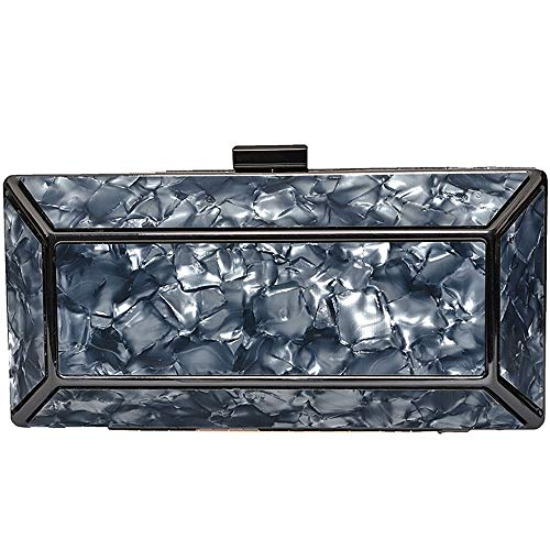 RMXMY Simple and Stylish Acrylic Clutch Purse for Women Party Handbags Shoulder Bags Wedding Clutch Purse Crossbody Bags Black