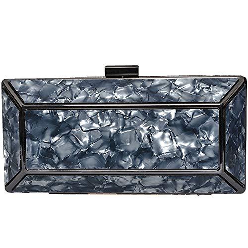 RMXMY Simple and Stylish Acrylic Clutch Purse for Women Party Handbags Shoulder Bags Wedding Clutch Purse Crossbody Bags Black