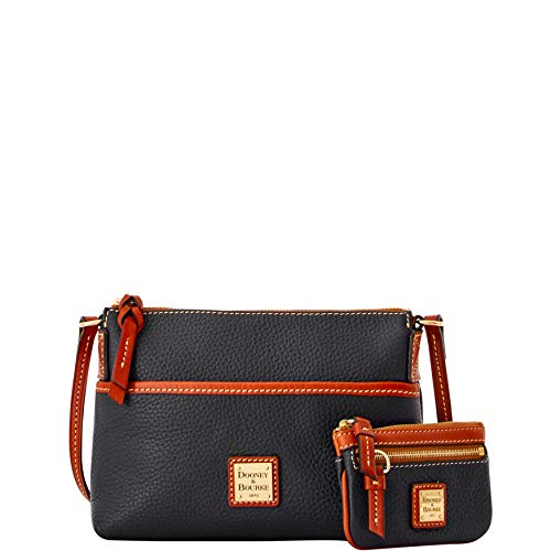 Dooney and Bourke Ginger Pebble xbody w/coin case SET Black