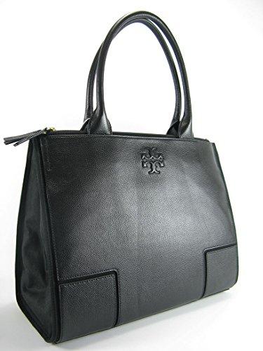 Tory Burch Ella LARGE Canvas Tote Handbag BLACK